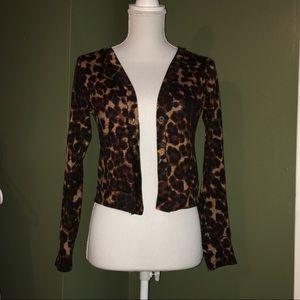 EUC dELiA*s cheetah button cardigan. Size small.